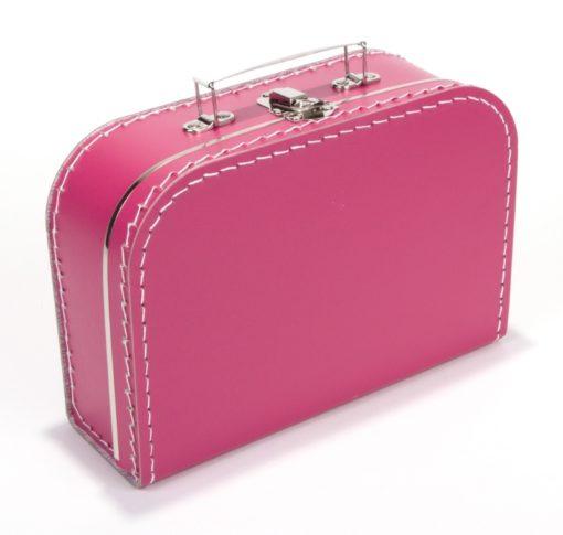 Kinderkoffertje fuchsia roze, bedrukking naar wens, wonderzolder.nl