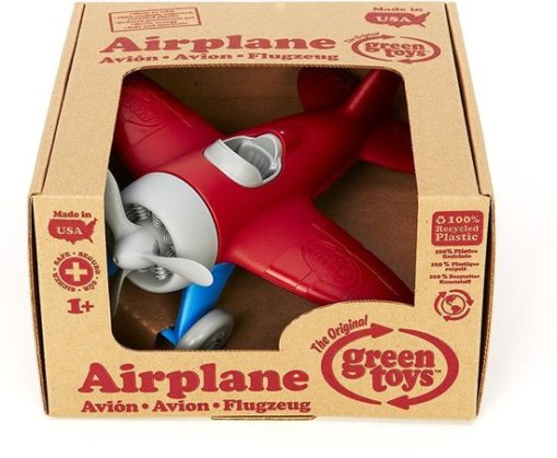 Green Toys vliegtuig Rood, rode vliegtuig, wonderzolder.nl