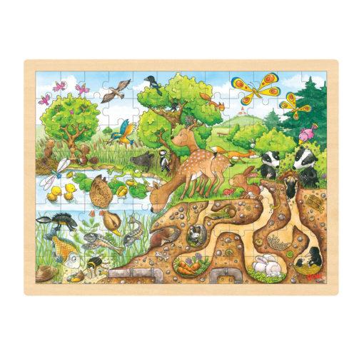 op ontdekking in de natuur puzzel, puzzel goki, educatief, wonderzolder.nl