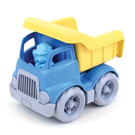 kiepwagen green toys, bouwvoertuigen, met poppetje, wonderzolder.nl