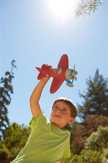 Green Toys- Vliegtuig Rood