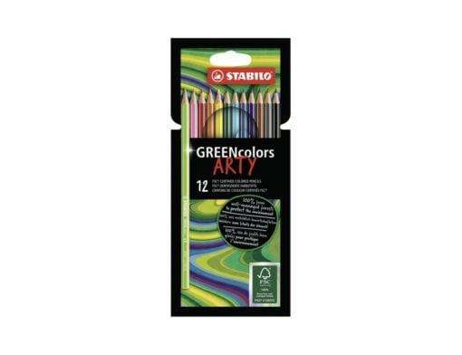 Greencolors Arty 12 stuks, Stabilo, kleurpotloden, FSC keurmerk, kleuren, tekenen, wonderzolder.nl