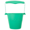 Scrunch duck egg green bucket, opvouwbare emmer, mint groen, wonderzolder.nl