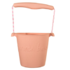 Scrunch bucket blush pink, emmer roze, opvouwbare emmer, wonderzolder.nl