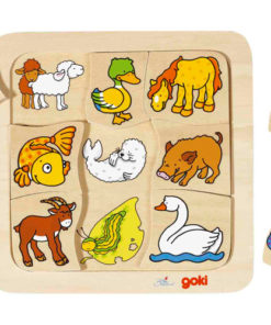 wie hoort bij wie? Puzzel dieren Goki -wonderzolder.nl