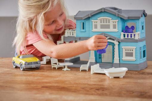 Poppenhuis, Green Toys, mee te nemen, wonderzolder.nl