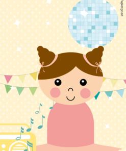 Papiergoed-Uitnodiging-kinderfeestje ballerina dans