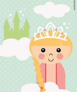 Uitnodiging kinderfeestje Prinses Papiergoed
