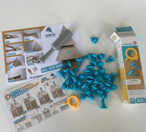 Toolkit makedo, Alternatieve toolkit, recycling, spelen met karton, wonderzolder.nl