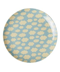 Lunch plate Blue Cloud plate - blauw wolken bord -wonderzolder.nl