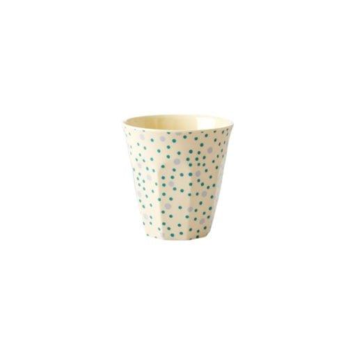 Small cup dots blue, Set van 6 bekers, mystery box, RICE, Wonderzolder.nl
