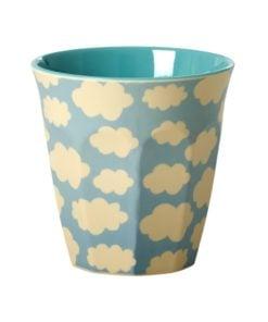 Melamine cup Blue Cloud - blauwe wolken beker -wonderzolder.nl