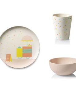 Set kinderservies 'Ice Cream' tableware Engel., Engelpunt -wonderzolder.nl