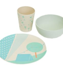 Set kinderservies 'tent', tableware Engel., Engelpunt -wonderzolder.nl