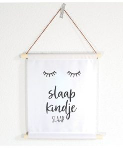 Textielposter slaap kindje slaap, MIEKinvorm, wonderzolder.nl