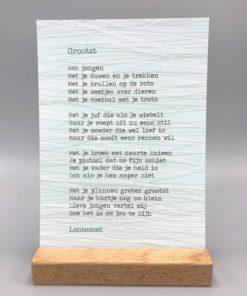 Grootst, gedicht, lentezoet, kaart, wonderzolder.nl