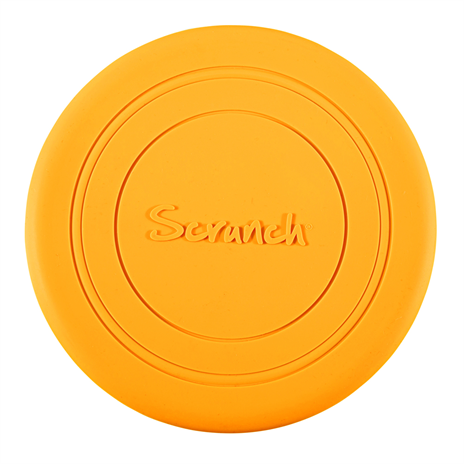 Scrunch frisbee mustard yellow, gele frisbee, wonderzolder.nl
