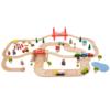 Rail and road set, bigjigs, houten autobaan en treinbaan, wonderzolder.nl