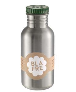 Steel bottle 500 ml Dark Green, Blafre, RVS Fles, wonderzolder.nl
