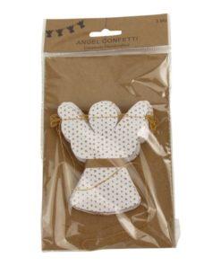 Slinger engel wit met stipjes, angel garland white with dots, imbarro, wonderzolder.nl