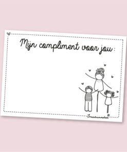 Complimenten blokje, broodtrommel liefde, irmadammekes, compliment, wonderzolder.nl