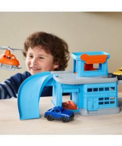 Green toys autogarage, garage, Green Toys, wonderzolder.nl