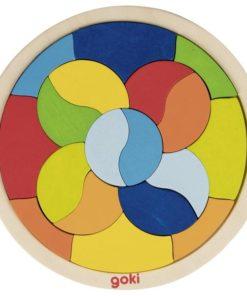 Mandala puzzel, puzzel, Goki, uitdaging kleuters, wonderzolder.nl