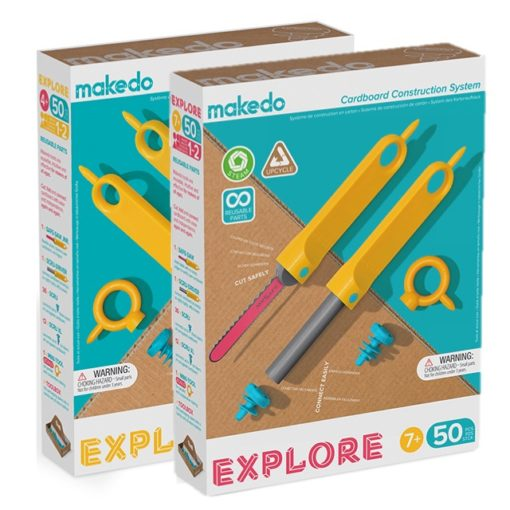Explore set 4+, explore set 7+, makedo, bouwen, recycle, wonderzolder.nl