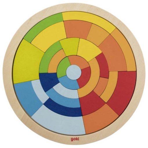 puzzel mandala, regenboog, Ginger fairy, goki, puzzel rond, wonderzolder.nl