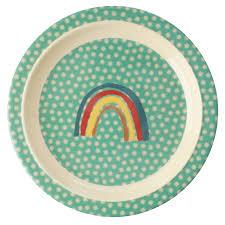 rainbow and stars plate rice