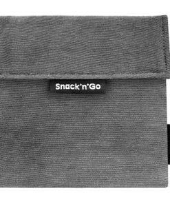 Snack'n'Go Grey, herbruikbaar zakje, lunchzakje, boterhamzakje, wonderzolder.nl
