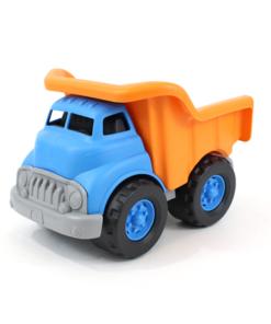 blauwe kiepwagen, green boys, duurzaam speelgoed, wonderzolder.nl