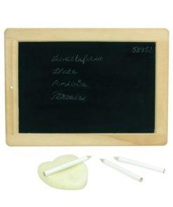 Schoolbord met krijt, lei met griffels, goki, thuisonderwijs, wonderzolder.nl