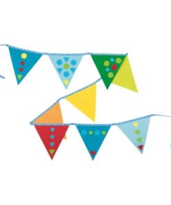 Vilten vlaggenlijn versieren, goki, feestje, knutselen, wonderzolder.nl