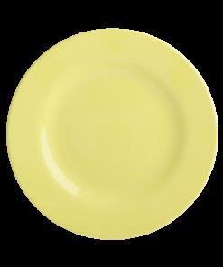 rice plate soft yellow classic, bord, wonderzolder.nl