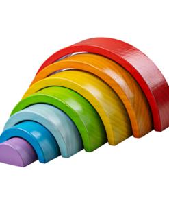 Regenboog middel, bigjigs, bouwblokken regenboog, wonderzolder.nl