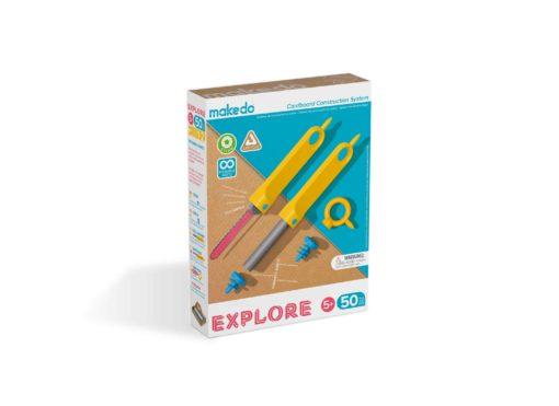 Explore set 5+, makedo, startset makedo, bouwen met karton, wonderzolder.nl