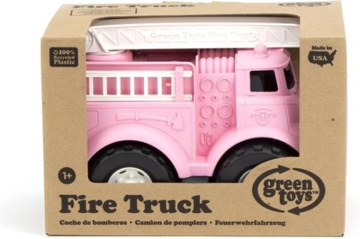 Brandweer auto roze, Green Toys, brandweerauto, wonderzolder.nl