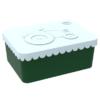 Lunchbox klein trekker lichtblauw / donkergroen, Blafre, broodtrommel met 1 vak -wonderzolder.nl