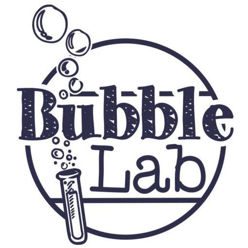 bubblelab logo, party set en standaard set, BubbleLab, meterslange zeepbellen, onderzoekend leren, avontuur, wonderzolder.nl