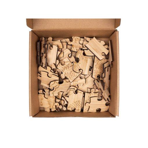 Bamboe puzzel uil, Goblin, duurzaam, natuurlijk, puzzel hout, wonderzolder.nl