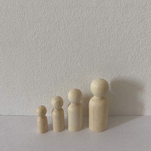 Houten poppetje blanco, houten poppetjes, pegdolls, DIY, Wonderzolder.nl
