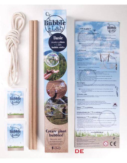 bubblelab standaard set, BubbleLab, meterslange zeepbellen, onderzoekend leren, avontuur, wonderzolder.nl