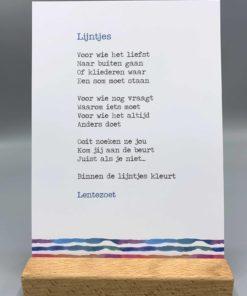 gedicht lijntjes, lentezoet, anders zijn, herkenbaar gedicht, wonderzonder.nl