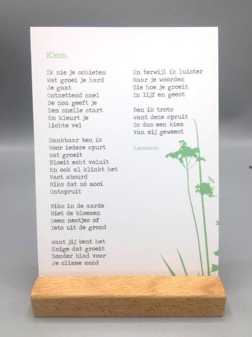 gedicht kiem, gedicht lentezoet, opgroeien, opvoeden, wonderzolder.nl
