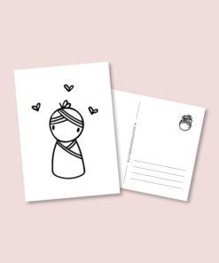 kaart baby meisje, irmadammekes, meisje geboren, geboorte kaartje, wonderzolder.nl