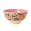 Kommetje Jungle Animal Pink, Rice servies, RICE Denemarken, Fair Trade servies, Melamine, Wonderzolder.nl