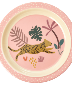 Lunch plate Jungle Animal Pink, Rice servies, RICE Denemarken, Fair Trade servies, Melamine, Wonderzolder.nl