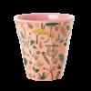 Cup Jungle animal pink medium, RICE, Melamine servies, fair trade, kinderservies, wonderzolder.nl