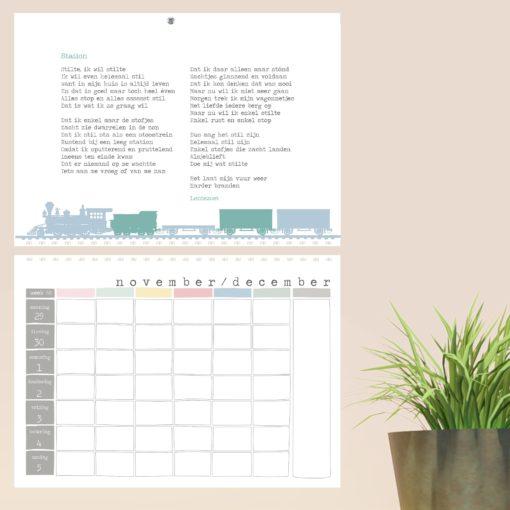 jaarplanner 2021 lentezoet, lentezoet planner, familieplanner, gedichten lentezoet, wonderzolder.nl
